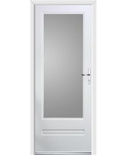 Ultimate Classic Rockdoor in White with Glazing