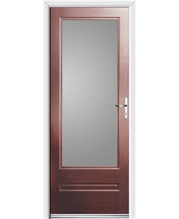 Ultimate Classic Rockdoor in Rosewood with Glazing