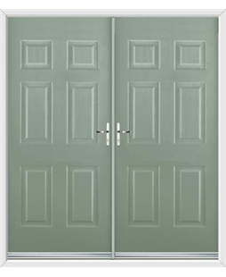 Colonial French Rockdoor in Chartwell Green