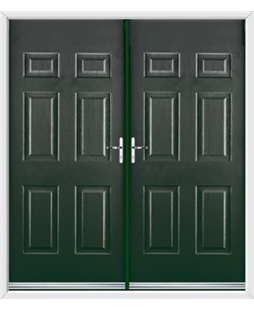 Colonial French Rockdoor in Emerald Green