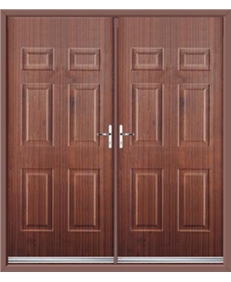 Colonial French Rockdoor in Mahogany