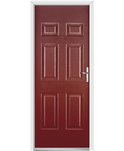 Ultimate Colonial Rockdoor in Ruby Red
