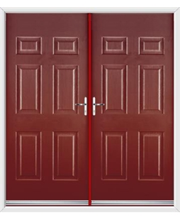 Colonial French Rockdoor in Ruby Red