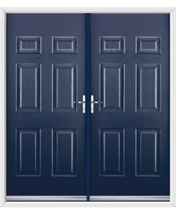 Colonial French Rockdoor in Sapphire Blue