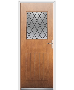 Ultimate Cottage View Rockdoor in Light Oak with Diamond Lead