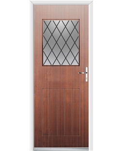 Ultimate Cottage View Rockdoor in Mahogany with Diamond Lead