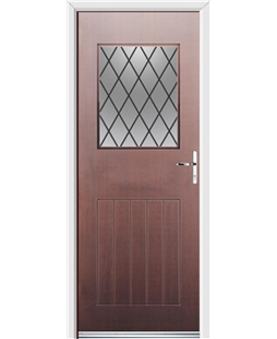 Ultimate Cottage View Rockdoor in Rosewood with Diamond Lead