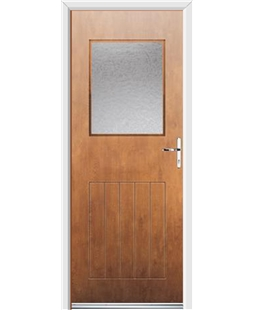 Ultimate Cottage View Rockdoor in Light Oak with Gluechip Glazing