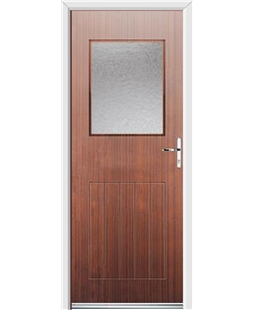 Ultimate Cottage View Rockdoor in Mahogany with Gluechip Glazing