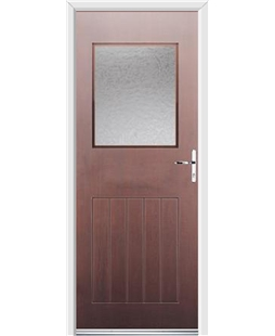 Ultimate Cottage View Rockdoor in Rosewood with Gluechip Glazing