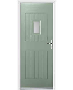Ultimate Cottage Spy Rockdoor in Chartwell Green with Glazing
