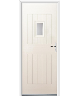 Ultimate Cottage Spy Rockdoor in Cream with Glazing