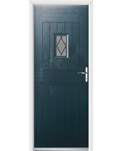 Ultimate Cottage Spy Rockdoor in Anthracite Grey with Diamond Lead
