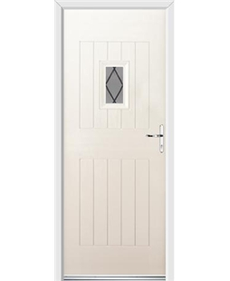 Ultimate Cottage Spy Rockdoor in Cream with Diamond Lead