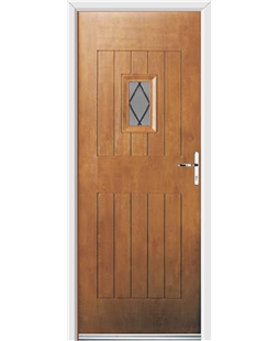 Ultimate Cottage Spy Rockdoor in Light Oak with Diamond Lead