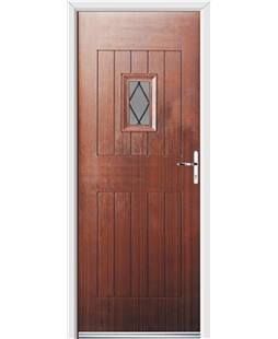 Ultimate Cottage Spy Rockdoor in Mahogany with Diamond Lead