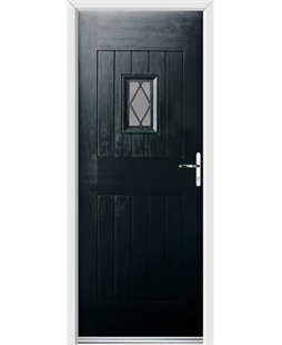 Ultimate Cottage Spy Rockdoor in Onyx Black with Diamond Lead