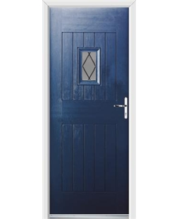 Ultimate Cottage Spy Rockdoor in Sapphire Blue with Diamond Lead