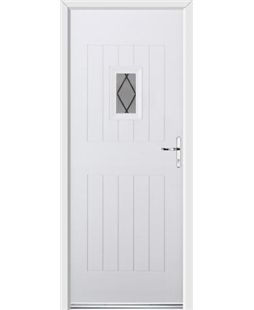 Ultimate Cottage Spy Rockdoor in White with Diamond Lead