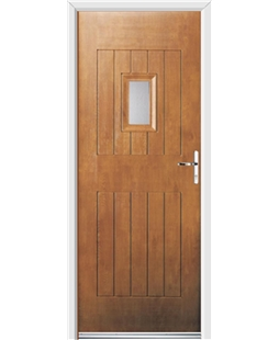 Ultimate Cottage Spy Rockdoor in Light Oak with Glazing