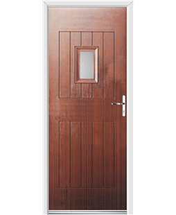 Ultimate Cottage Spy Rockdoor in Mahogany with Glazing
