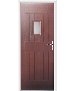 Ultimate Cottage Spy Rockdoor in Rosewood with Glazing