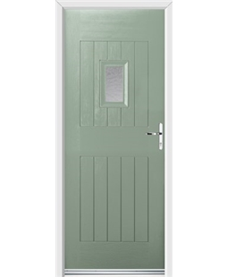 Ultimate Cottage Spy Rockdoor in Chartwell Green with Gluechip Glazing