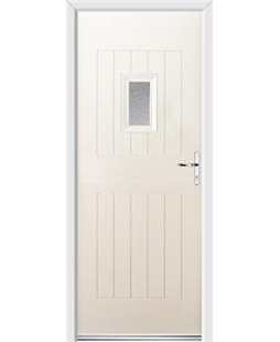 Ultimate Cottage Spy Rockdoor in Cream with Gluechip Glazing