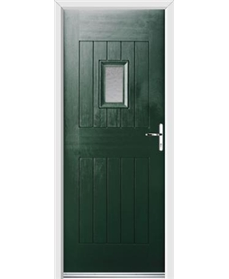 Ultimate Cottage Spy Rockdoor in Emerald Green with Gluechip Glazing