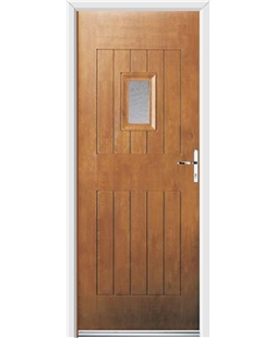 Ultimate Cottage Spy Rockdoor in Light Oak with Gluechip Glazing