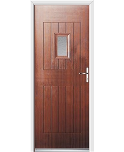 Ultimate Cottage Spy Rockdoor in Mahogany with Gluechip Glazing