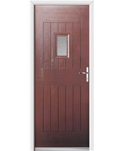 Ultimate Cottage Spy Rockdoor in Rosewood with Gluechip Glazing