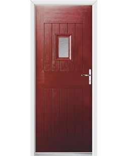 Ultimate Cottage Spy Rockdoor in Ruby Red with Gluechip Glazing
