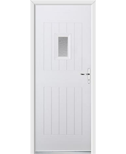 Ultimate Cottage Spy Rockdoor in White with Gluechip Glazing
