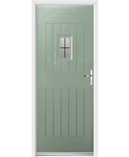 Ultimate Cottage Spy Rockdoor in Chartwell Green with Square Lead