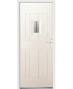 Ultimate Cottage Spy Rockdoor in Cream with Square Lead