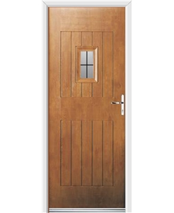 Ultimate Cottage Spy Rockdoor in Light Oak with Square Lead