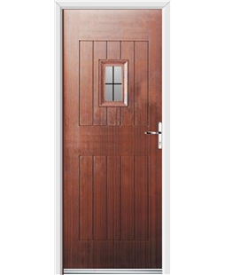 Ultimate Cottage Spy Rockdoor in Mahogany with Square Lead