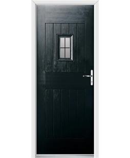 Ultimate Cottage Spy Rockdoor in Onyx Black with Square Lead