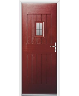 Ultimate Cottage Spy Rockdoor in Ruby Red with Square Lead