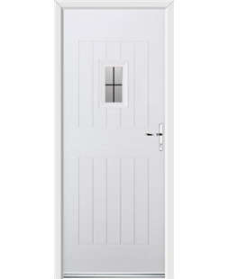 Ultimate Cottage Spy Rockdoor in White with Square Lead