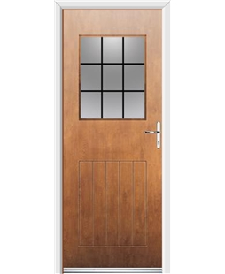 Ultimate Cottage View Rockdoor in Light Oak with Square Lead