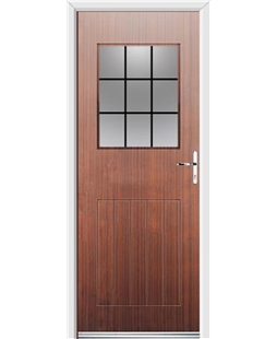Ultimate Cottage View Rockdoor in Mahogany with Square Lead