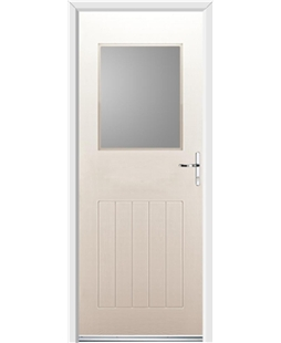 Ultimate Cottage View Rockdoor in Cream with Glazing