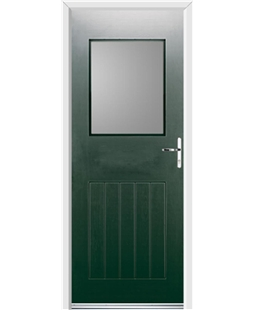 Ultimate Cottage View Rockdoor in Emerald Green with Glazing