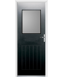 Ultimate Cottage View Rockdoor in Onyx Black with Glazing
