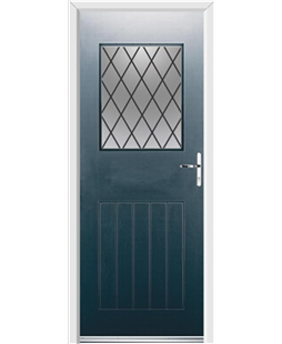 Ultimate Cottage View Rockdoor in Anthracite Grey with Diamond Lead