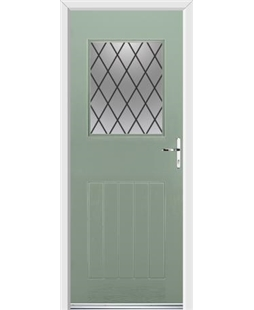 Ultimate Cottage View Rockdoor in Chartwell Green with Diamond Lead
