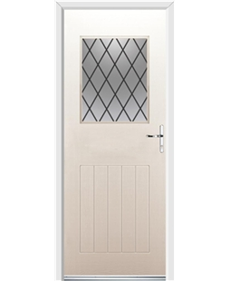Ultimate Cottage View Rockdoor in Cream with Diamond Lead