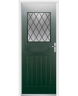 Ultimate Cottage View Rockdoor in Emerald Green with Diamond Lead